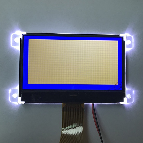 White on Blue 128x64 Graphic LCD