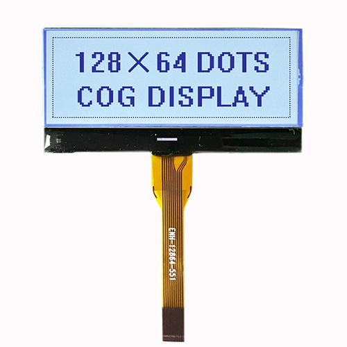 128x64 Monochrome LCD Display with White Backlight