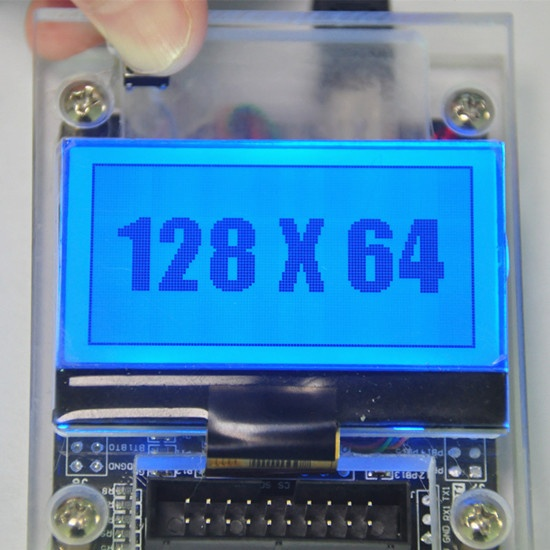128x64 graphic lcd module COG STN type LCD screen display with RGB backlight