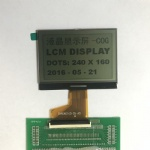 240x160 Graphic Monochrome LCD Display