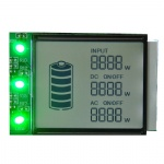 Custom 7 segment lcd display